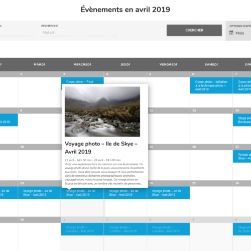 Calendrier des formations photo VP23 - Cours photo - Stage photo - Voyage photo - Mickaël Bonnami Photographe