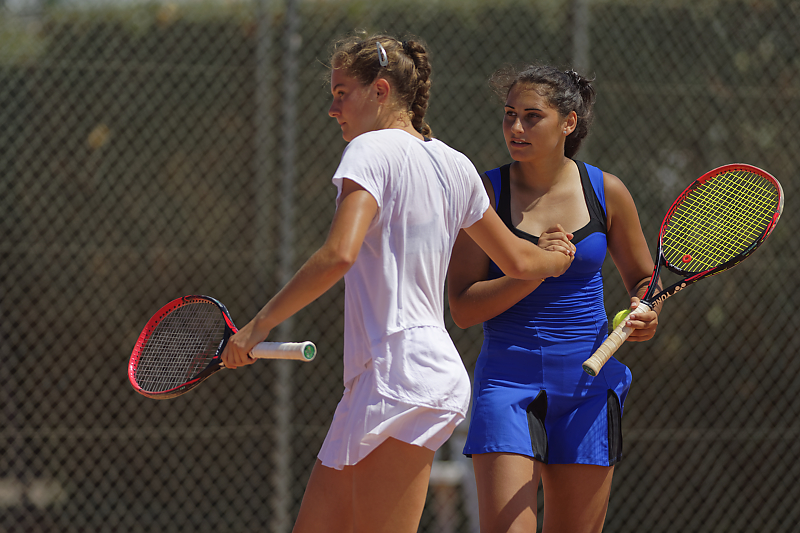 Mathilde Dury et Rania Azziz - Engie Open Biarritz - Tennis - Stage photo sport - VP23 formations photo