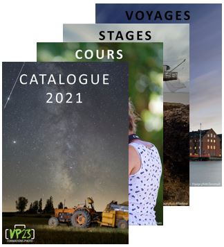 Catalogue VP23 formations photo 2021 - Cours photo - Stage photo - Voyage photo