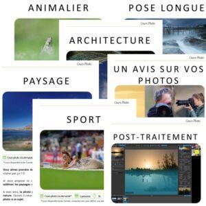 Cours photo en ligne - VP23 formations photo - Mickaël Bonnami Photographe - Pack 7 cours photo en ligne