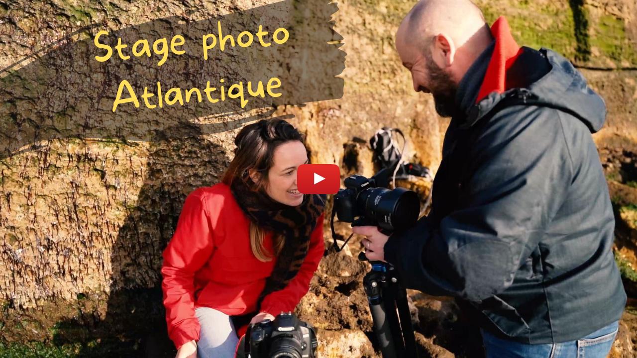 Vidéo YouTube Stage photo Atlantique